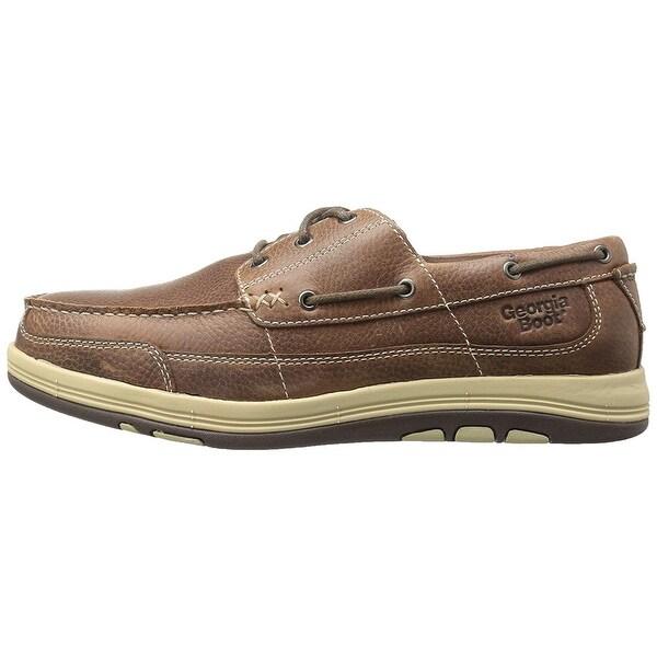 Georgia Boot Mens GB00077 Leather Closed Toe Boat Shoes