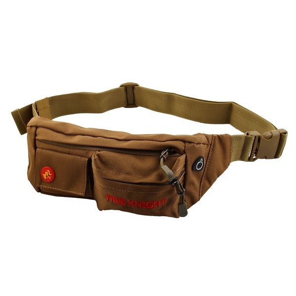 FreeKnight Authorized Running Jogging Phone Holder Sports Pouch Waist Bag Brown