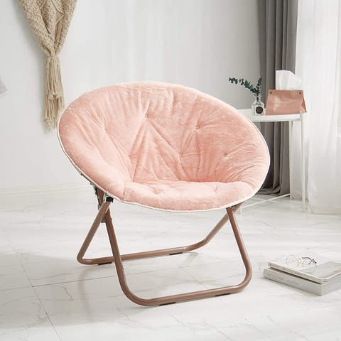 Urban Shop Super Soft Adult Foldable Saucer Chair