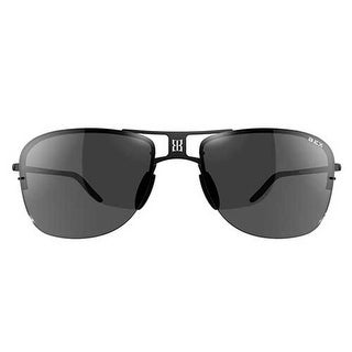 Bex Sunglasses Grayfyn Titanium Lightweight Polarized Black Gray BYG5 - black gray - Medium