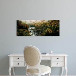 Easy Art Prints Panoramic Images's 'High angle view of trees in a forest, Simplon Pass, Switzerland' Canvas Art