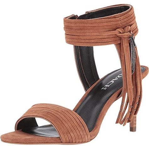 Coach Womens Harvey Lux Suede Open Toe Casual Ankle Strap Sandals