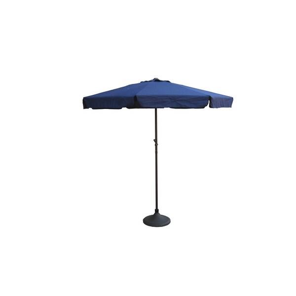Shop Outdoor Patio Market Umbrella 7 5 Ft With Hand Crank Navy