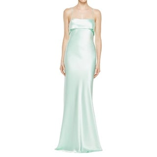 ABS Collection Womens Evening Dress Satin Ruffled