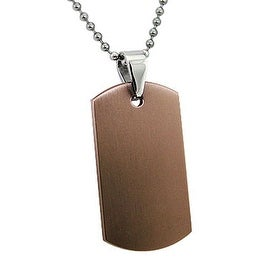 Engraveable Rose Gold Stainless Steel Dog Tag with 22 Inch Bead Chain