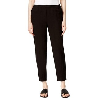 Eileen Fisher Womens Ankle Pants Slim Leg Solid
