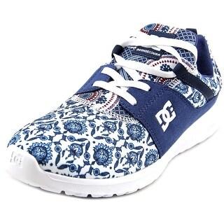 DC Shoes Heathrow Women Round Toe Canvas Blue Skate Shoe