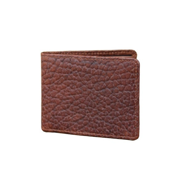 Vintage Bison Western Wallet Mens Mesa Bifold Leather Peanut