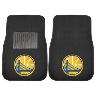 NBA Golden State Warriors 2 Piece Embroidered Car Mats 17 X 25 5