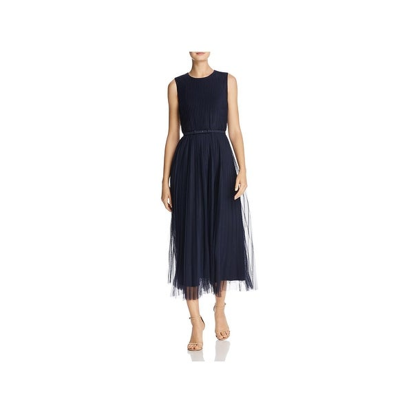 3a15e9c4f0 Shop Lafayette 148 New York Womens Charlotte Casual Dress Pleated  Sleeveless - 12 - Free Shipping Today - Overstock - 25897873