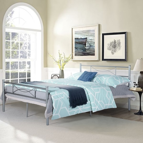 shop easy set-up full metal bed frame bedroom furniture
