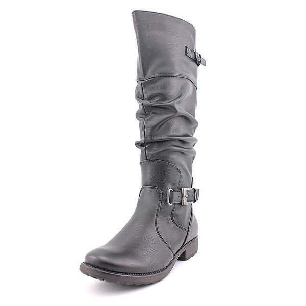 Bare Traps Womens Stiller Leather Almond Toe Knee High Riding Boots