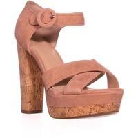 Guess Parris Platform Ankle Strap Sandals, Medium Pink