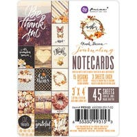 "Amber Moon Double-Sided Journaling Cards 3""X4"" 45/Pkg-15 Designs/3 Each"