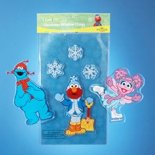 Set of 4 Sesame Street Abby Cadabby & Snowflakes Christmas Window Clings