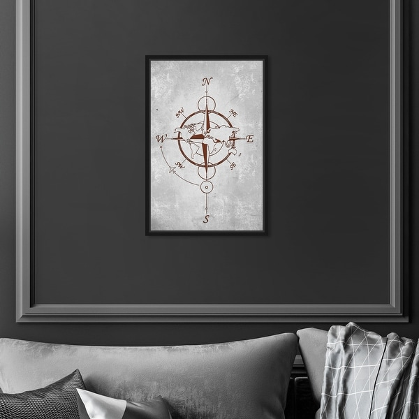 Oliver Gal 'World Compass' Map Red Wall Art Canvas. Opens flyout.