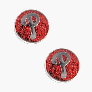 Philadelphia Phillies Glitter Sparkle Post Stud Logo Earring Set Charm Gift