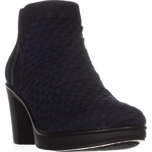 afe5f6863c0 Shop STEVEN Steve Madden Excit Comfort Ankle Boots, Navy Multi ...