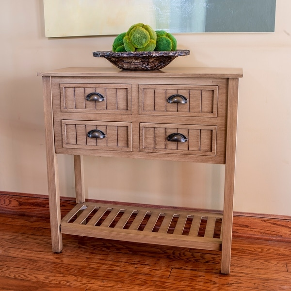 Bailey Bead board 4-drawer Console Table. Opens flyout.