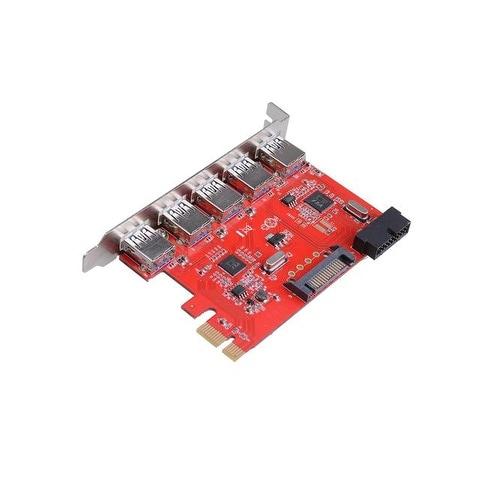 Ctzrzyt USB 3.0 PCI-E Expansion Card 7 Ports Hub External Controller PCI-E Extender PCI Express Card for Desktop