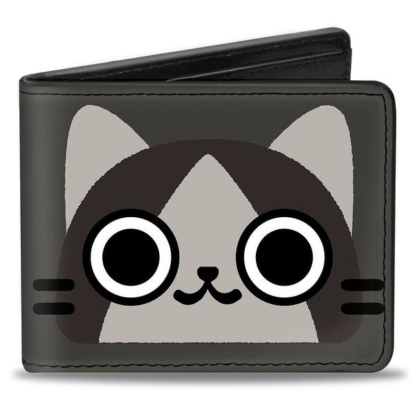 Merarou Face Close Up + Logo Grays Bi Fold Wallet - One Size Fits most
