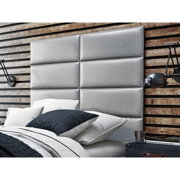 Vant Upholstered Wall Panels (Headboards) Sets of 4 - Pearl Silver - 30 Inch - Full-Queen.