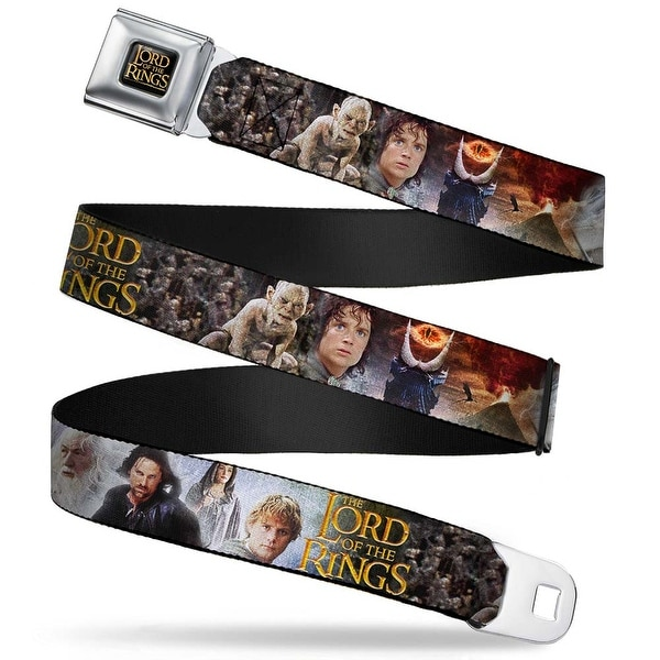 The Lord Of The Rings Full Color Black Gold The Lord Of The Rings Character Seatbelt Belt