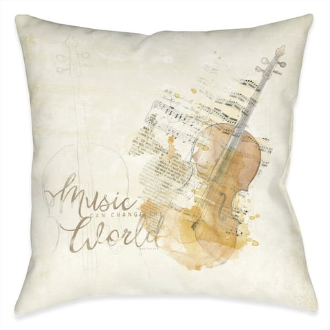 Music Can Change The World Indoor Pillow
