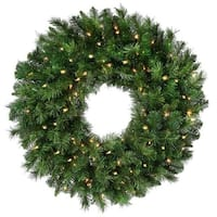 "New Zealand Pine Wreath 24"" 170 Tips-"