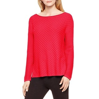 Vince Camuto Womens Pullover Sweater Basket Weave Knit
