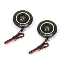 Unique Bargains 2 Pcs 92dB Black Round Shaped Car Audio Loud Dome Tweeters Speakers 180W 4 OHM