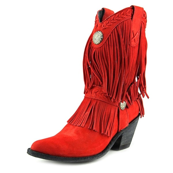 "Old Gringo Lucrecia 10"" Women Pointed Toe Leather Red Western Boot"