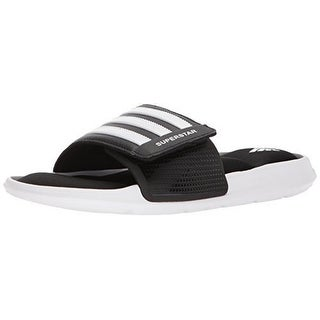 Adidas Mens Superstar Slide, Black/White/Black