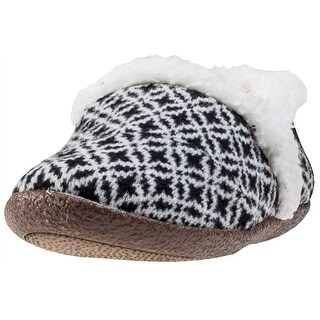 TOMs Women's Slipper - black/white fair isle