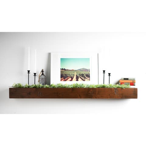 Copper Grove Hatein Shipwreck Wood Mantel Shelf