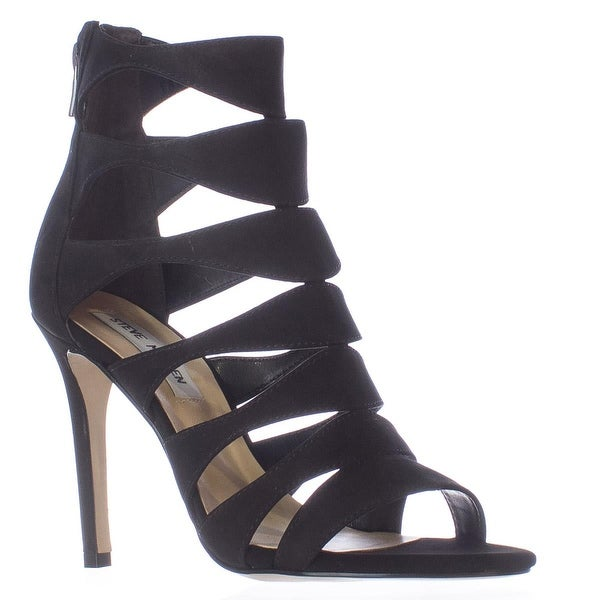 Steve Madden Swyndlee Multi Strap Dress Sandals, Black