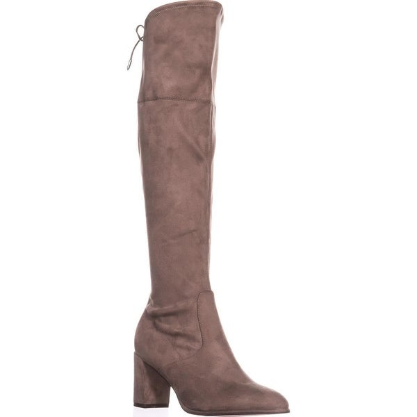 Marc Fisher Labella Rear Lace Over The Knee Boots, Medium Natural - 8.5 us
