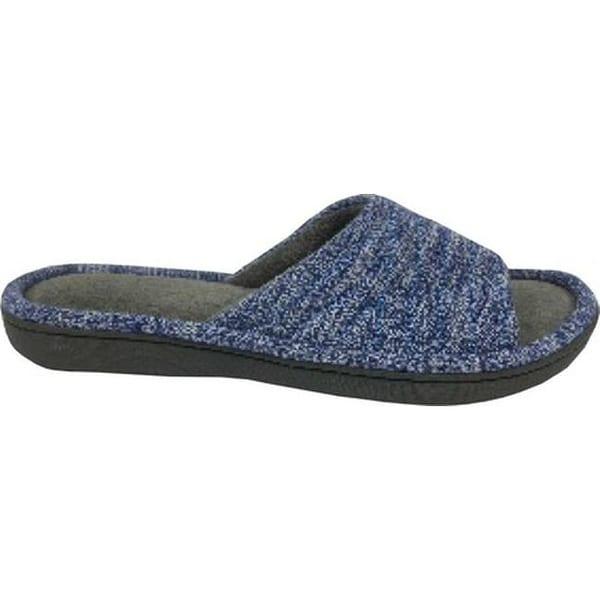 af712f326 Shop Isotoner Women s Space Knit Andrea Slide Slipper Sapphire Knit - On  Sale - Free Shipping On Orders Over  45 - Overstock - 18910791