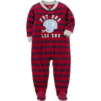 Carters Boys 18 Months Helmet Fleece Pajama - Red