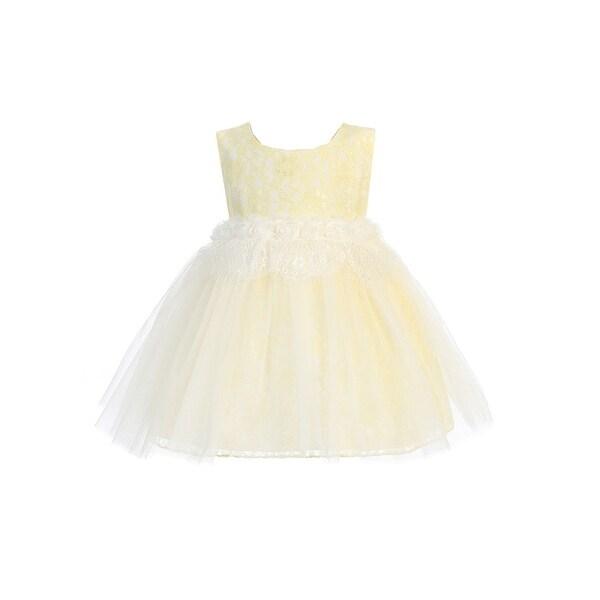 3f1ca29ffc Kids Dream Baby Girls Yellow Lace Back Heart Accent Flower Girl Dress 24M -  24 Months