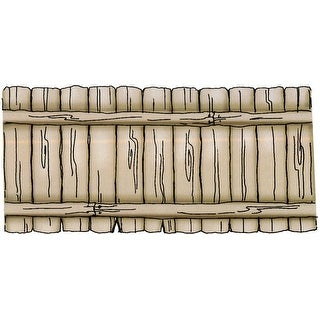 """Art Impressions Front-N-Backs Cling Rubber Stamp 7""""X4""""-Fence"""