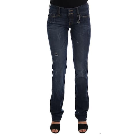 Costume National Blue Cotton Slim Fit Stretch Denim Women's Jeans
