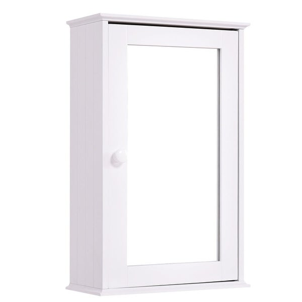 Bathroom Wall Cabinet with Single Mirror Door