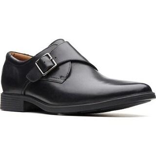 Clarks Men's Tilden Style Monkstrap Black Full Grain Leather