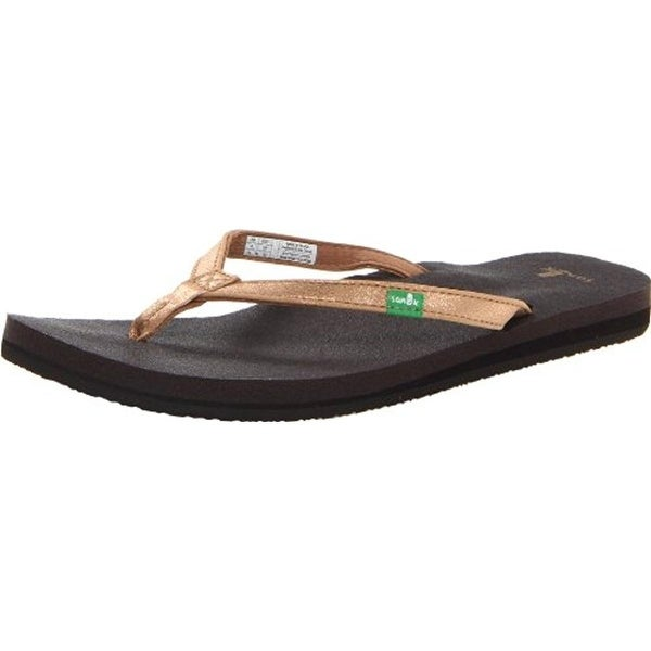 Sanuk Womens Yoga Joy Flip-Flops Slide Sandals