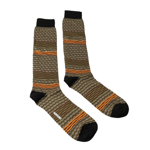 Missoni GM00CMU5238 0001 Olive/Orange Knee Length Socks