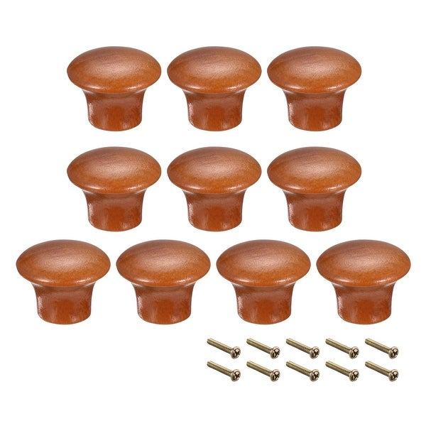 Round Pull Knob Handle 23mm Dia Cabinet Furniture Bedroom Kitchen Drawer 10pcs - 33mmx17mm(D*H)-10pcs