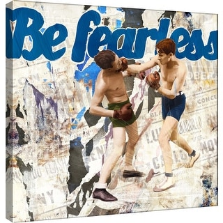 "PTM Images 9-101204  PTM Canvas Collection 12"" x 12"" - ""Be Fearless"" Giclee Boxing Art Print on Canvas"