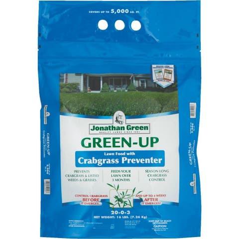 Jonathan Green 10456 Green-Up Crabgrass Preventor w/Lawn Fertilizer, 22-0-3, 16Lb