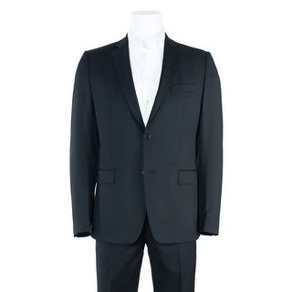 Versace Collection Men's Black Two Button Suit with Pants - 44